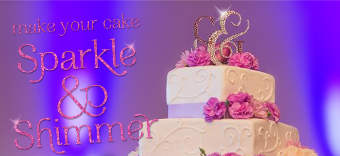 Dazzle Me Elegant Custom Crystal Wedding Cake Toppers